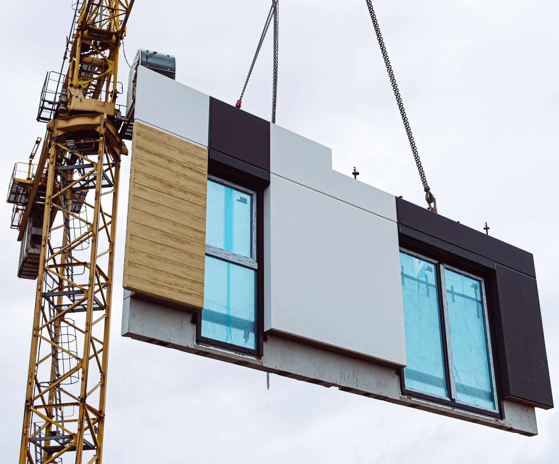 Prefabricated Building Materials & panelized commercial construction projects for green building time & money savings