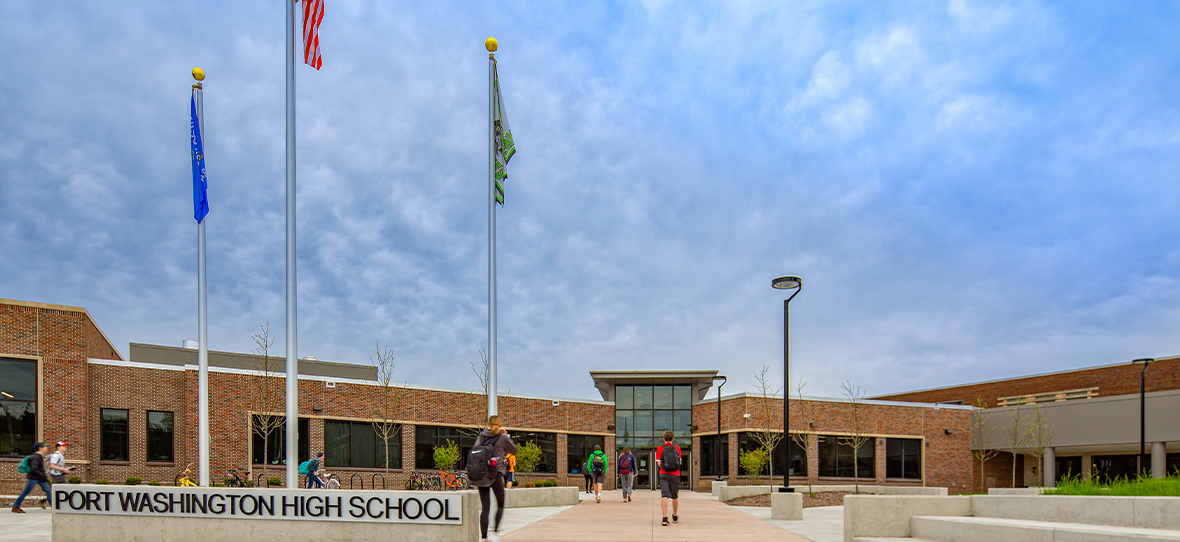 C.D. Smith was hired by the Port Washington-Saukville School District to provide full preconstruction and construction management services for multi-phased additions and renovations to Port Washington High School.