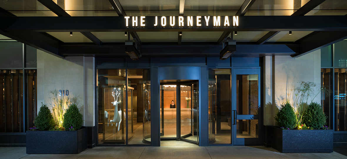 C.D. Smith served as a development partner for Journeyman Hotel in Milwaukee, providing construction management services. The Journeyman is located in Milwaukee's historic third ward.