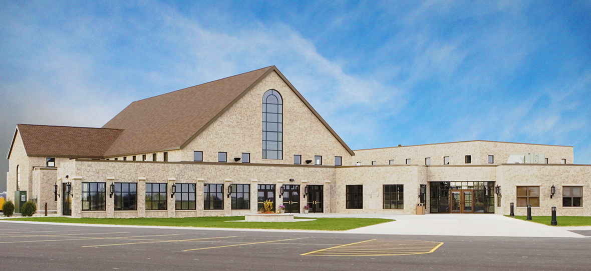 Constructed by C.D. Smith, Shepherd of the Hills Church and School effectively consolidates four local parishes. The facility accommodates the demand for increased worship space and the parish's need for modernization. Its 500-seat worship area, parish offices and K - 8 school centralize the functions of the parish, making it more accessible for the parishioners.
