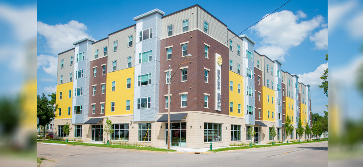 "C.D. Smith provided construction services for Pointe West Investment's ""The Hive"" Apartment Complex in La Crosse, Wisconsin."