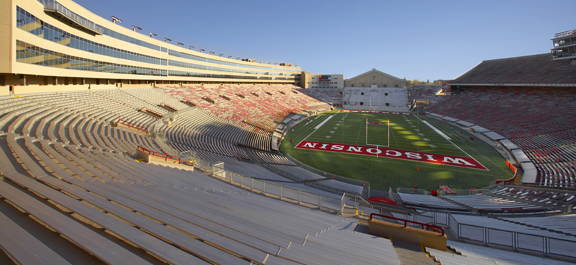 The addition and renovation, done by C.D. Smith Construction, to Camp Randall Stadium created a fresh look to the historical University of Wisconsin football program in Madison, Wisconsin. The stadium was built in 1917 and was largely unchanged since 1966. The renovation and addition sustained the energetic atmosphere while adding roughly 5,000 seats to increase the capacity to approximately 80,000.