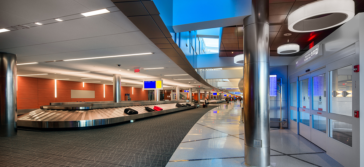 07_C.D. Smith Construction - General Mitchell Internation Airport Baggage Claim - All Rights Reserved 2019