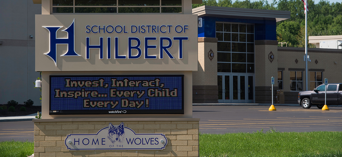 Hilbert School District - School Construction - Education Construction - Wisconsin construction companies – Madison construction companies – Milwaukee construction companies - C.D. Smith Construction companies – Commercial Construction Companies