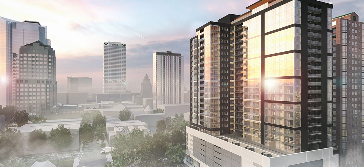 Ascent luxury apartments building world's tallest mass timber tower in Milwaukee