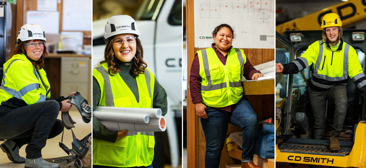 At C.D. Smith we support + celebrate women in construction with focus on diversity-inclusion for female construction workers.