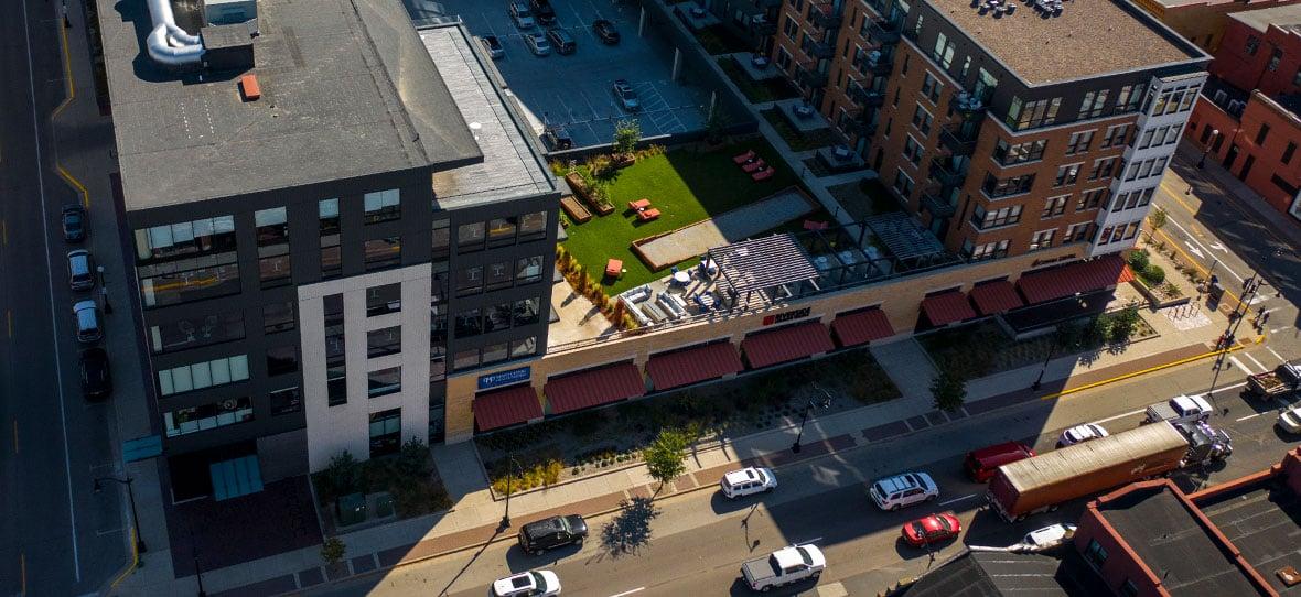 Belle Square New Development Mixed-Use Project Construction Management Sustainable Building Design La Crosse, WI