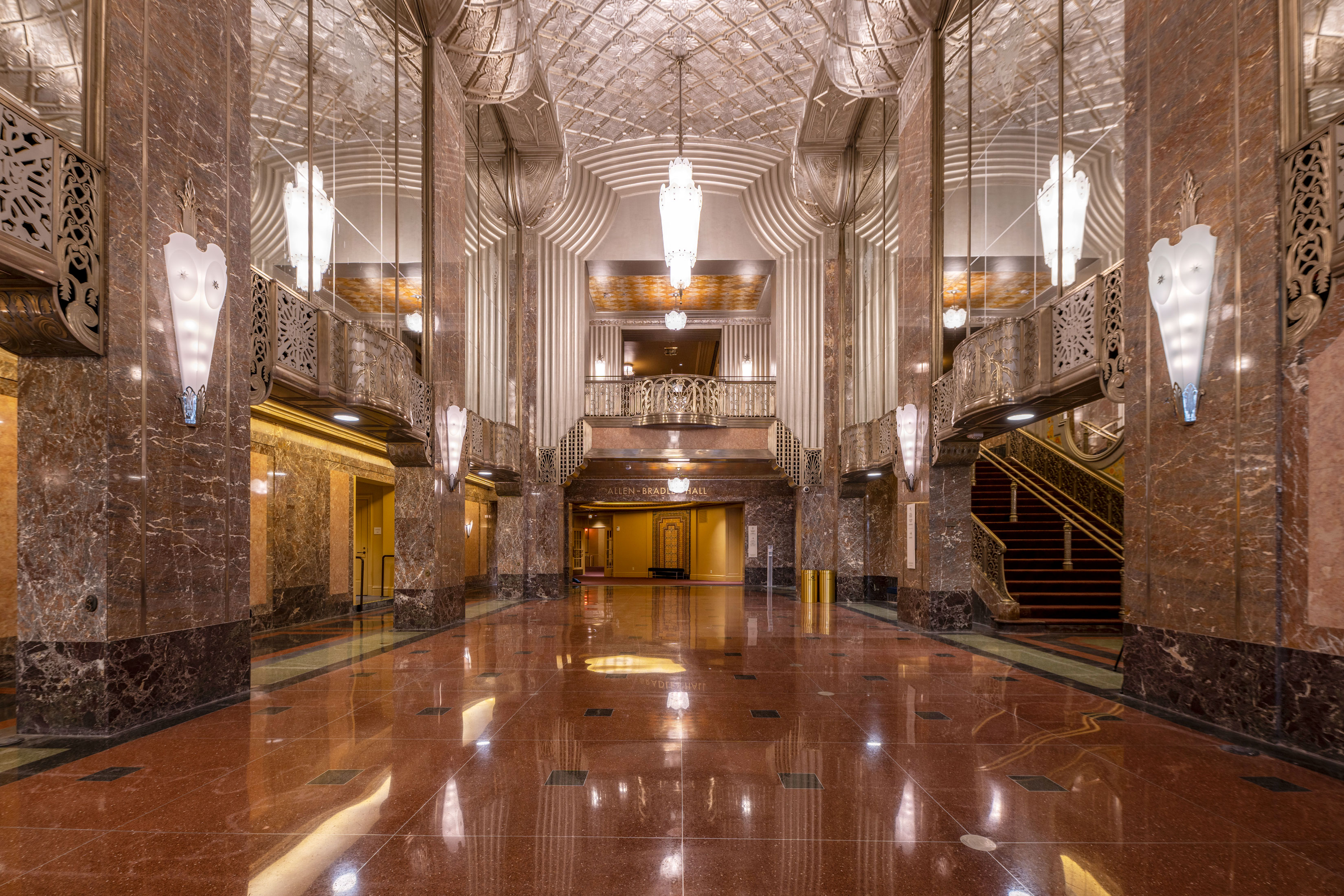 Bradley Symphony Center historic grand lobby of Milwaukee Symphony Orchestra