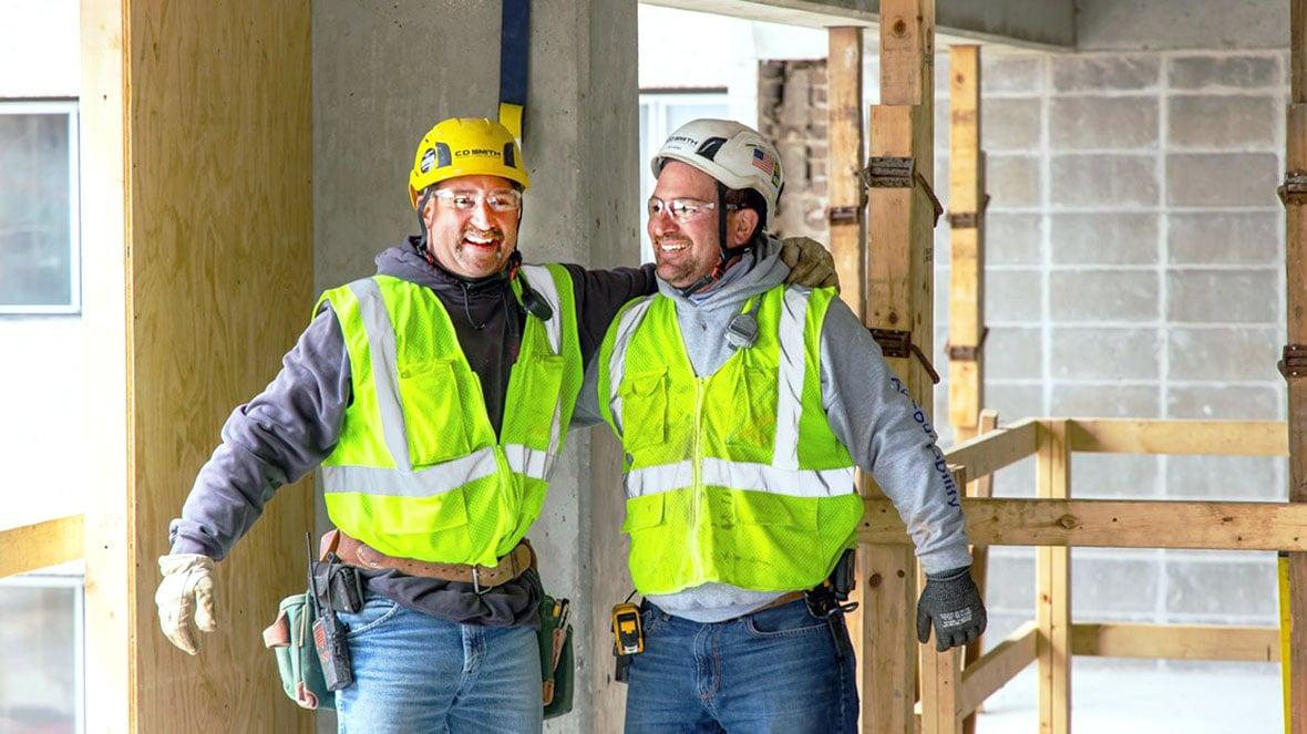 C.D. Smith Construction Carpenter Superintendent Laborer Foreman Commercial Construction Trades UW-Madison Renovation Project