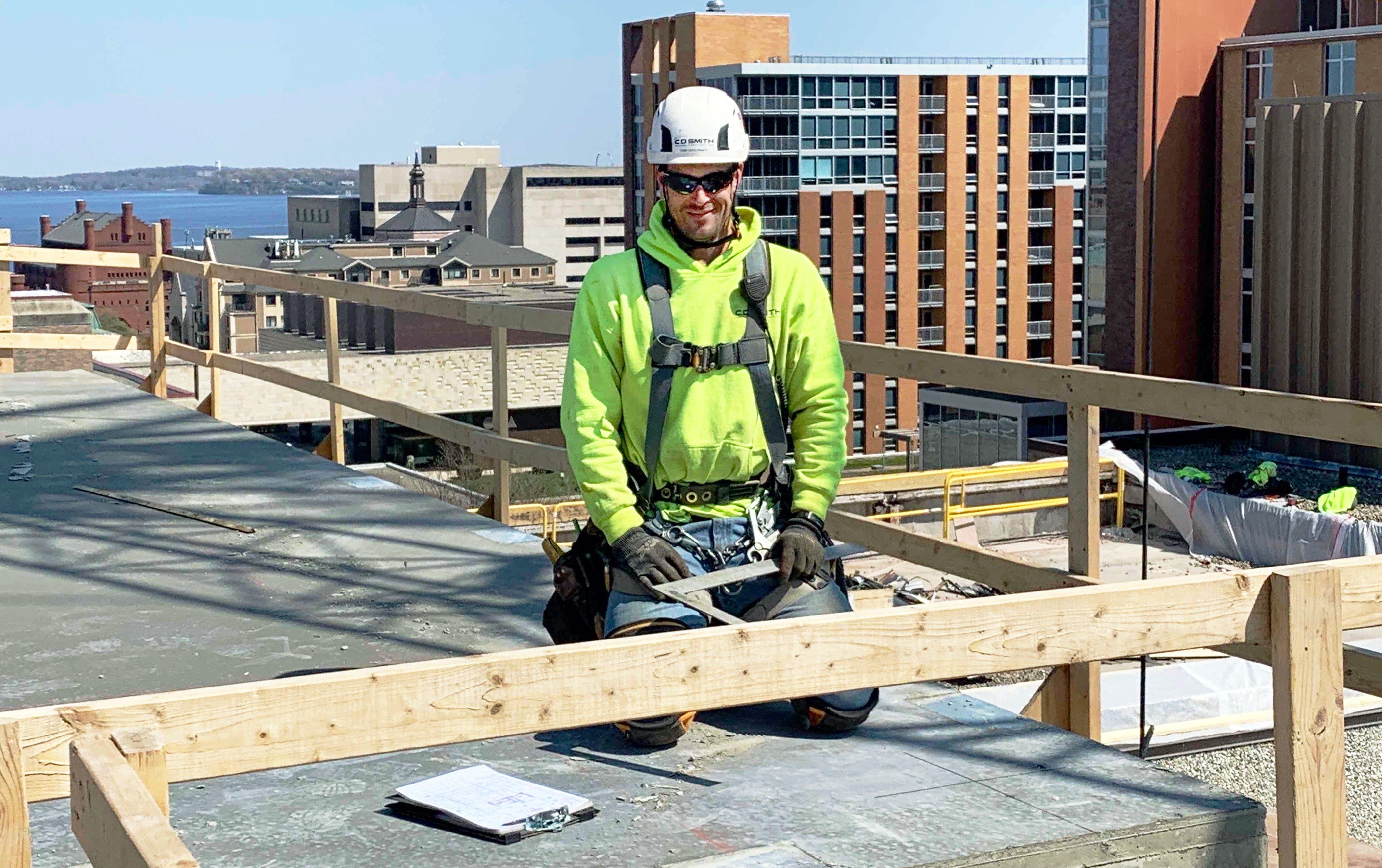 C.D. Smith Construction Carpenter Superintendent Tony Birschbach Commercial Construction Trades Field Team Renovation Project