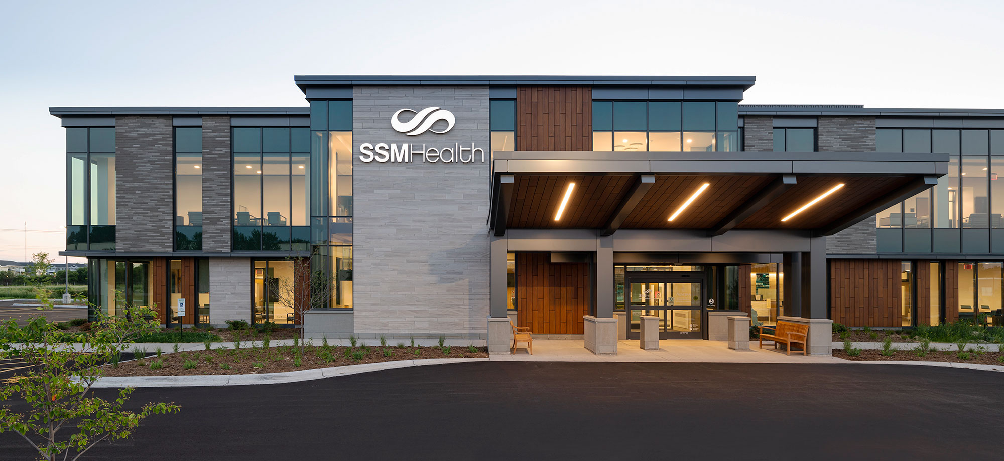 C.D. Smith Construction Manager modern healthcare architecture building project SSM Health Beaver Dam Clinic design