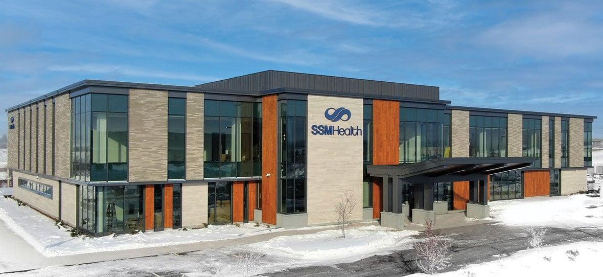C.D. Smith Construction Manager modern healthcare architecture building project SSM Health Beaver Dam Clinic facade design