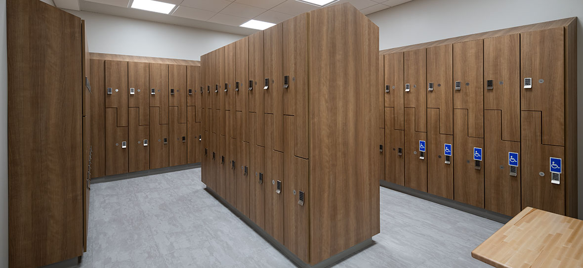 C.D. Smith Construction Manager modern healthcare architecture building project SSM Health Beaver Dam Clinic locker room design