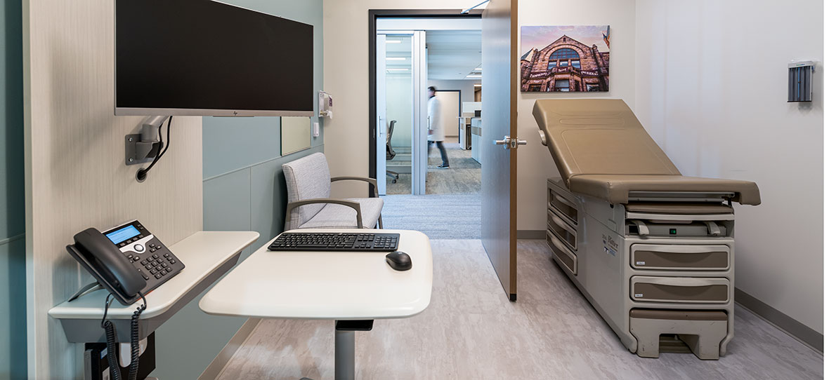 C.D. Smith Construction Manager modern healthcare architecture building project SSM Health Beaver Dam Clinic exam room design