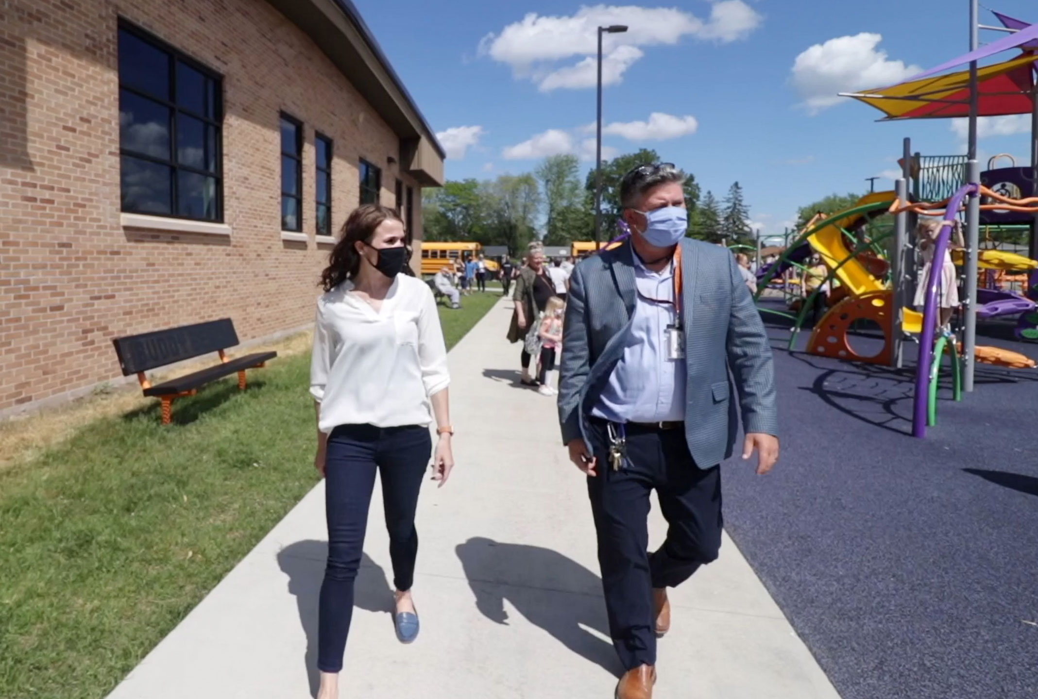 C.D. Smith Construction firm Director of Educational Markets Tricia Muellenbach at School Building