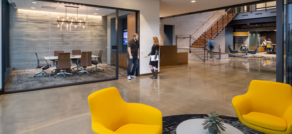 Greater Madison's In Business magazine Q&A discussion about post-pandemic commercial building office corporate construction