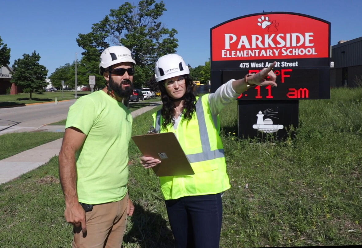 C.D. Smith Director of Educational Markets Tricia Muellenbach at Parkside Elementary School