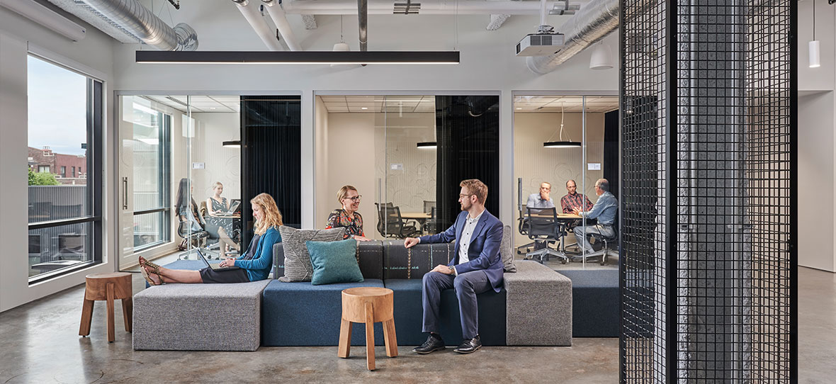When building the new Gensler La Crosse buildout at Belle Square, C.D. Smith involved the creation and construction of a new state-of-the-art space to house Gensler's growing team in La Crosse.