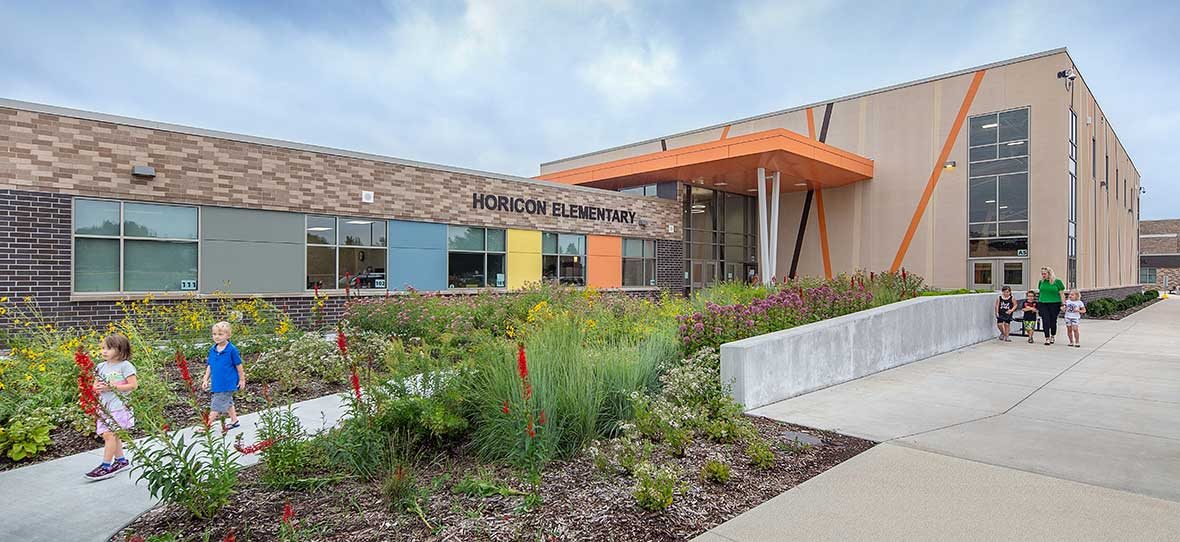 Modern School Building C.D. Smith Construction Manager & Preconstruction for Horicon School District Commercial Project