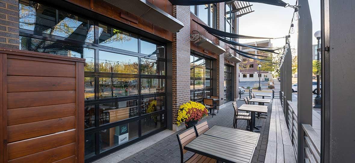 La Crosse Distillery outdoor patio built by C.D. Smith Construction Manager