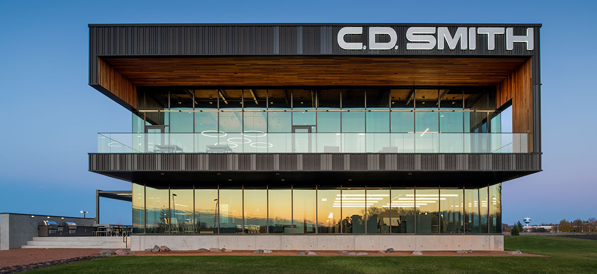 High-performance building C.D. Smith Construction manager living green with LEED gold environmental sustainability project