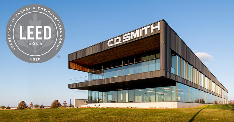 C.D. Smith Construction Fond du Lac Corporate Office Building Achieves LEED Gold certified sustainability