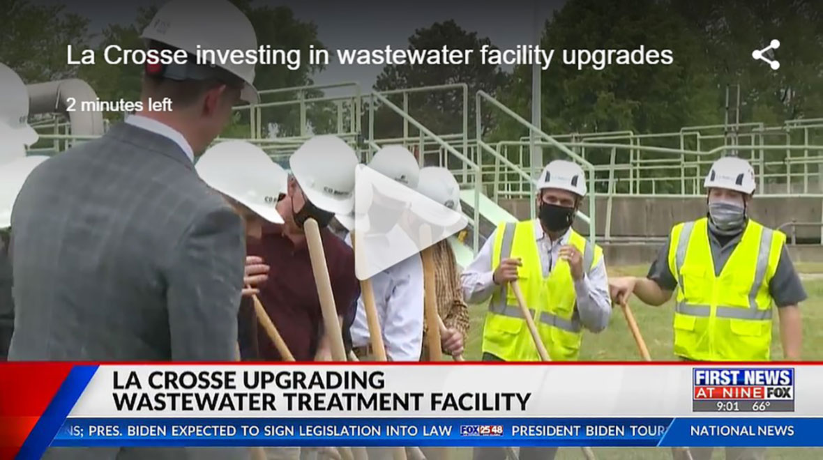 Wisconsin City of La Crosse Wastewater Treatment Facility Expansion Project Groundbreaking - C.D. Smith Construction Crew