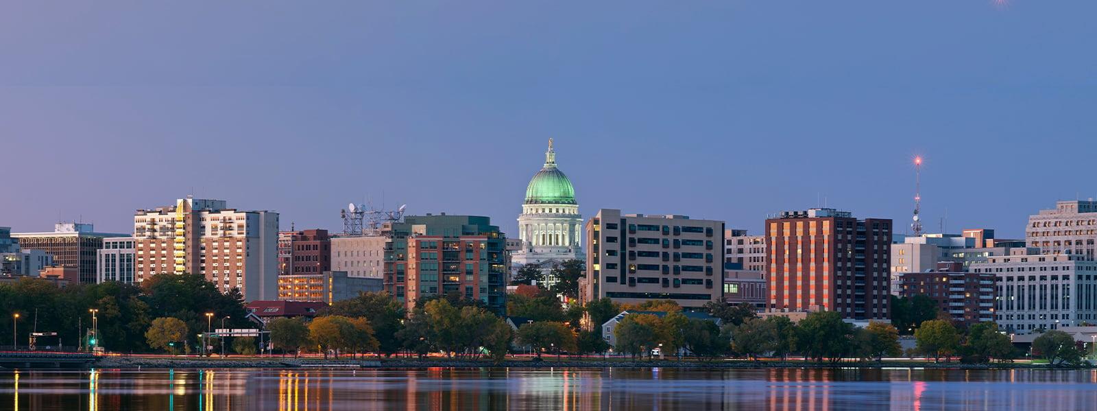Madison Wisconsin Skyline Stock Photography