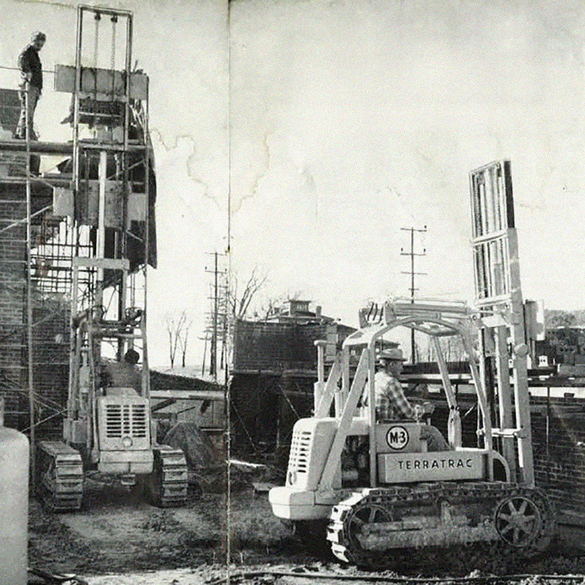 Material Handling Crawler Construction Forklifts for C.D. Smith Construction 1958 Commercial Projects Heavy Equipment Fleet