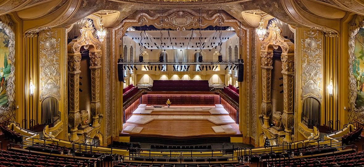 Milwaukee Symphony Orchestra Warner Grande Theatre historic restoration construction building modern Bradley Symphony Center
