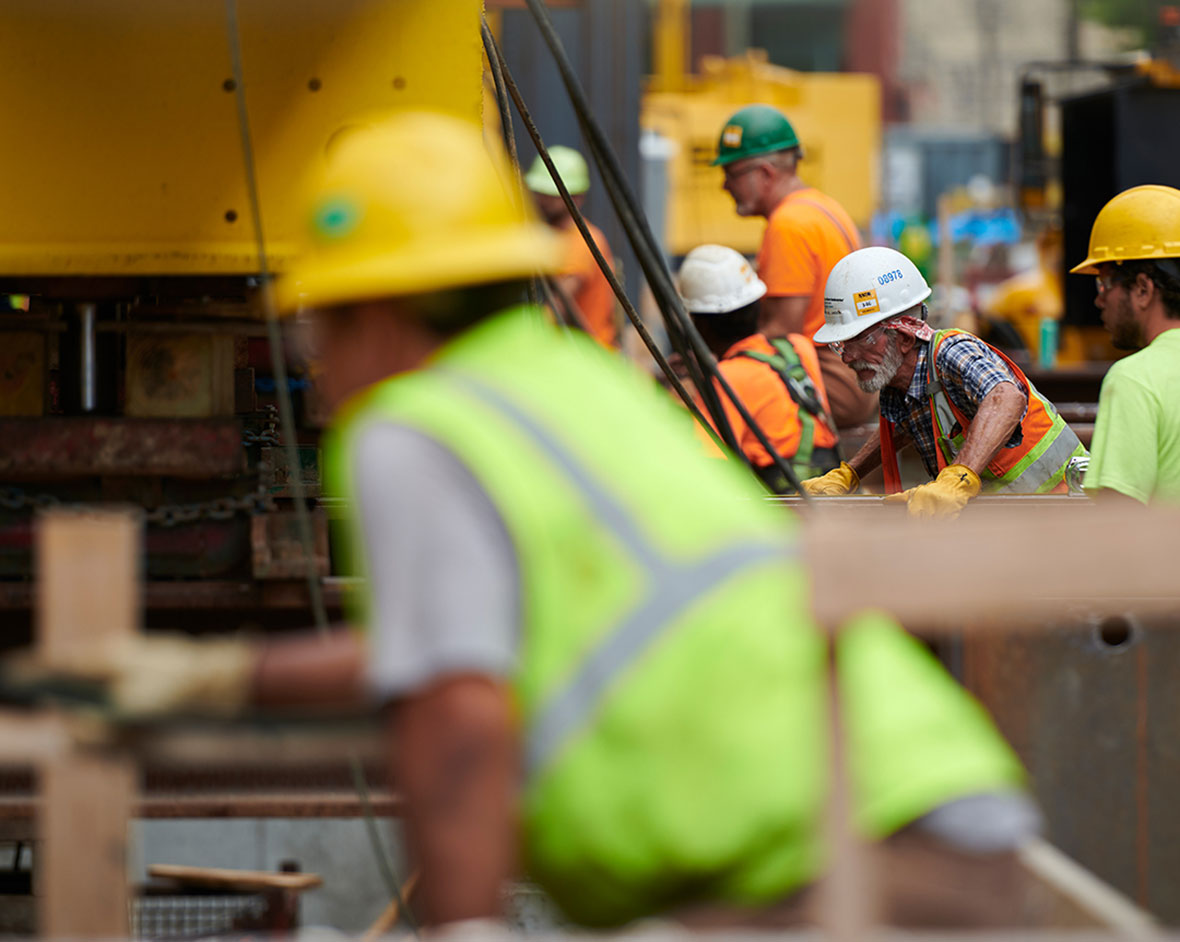Building Together at Milwaukee Symphony Orchestra Wall Move Construction Project Site