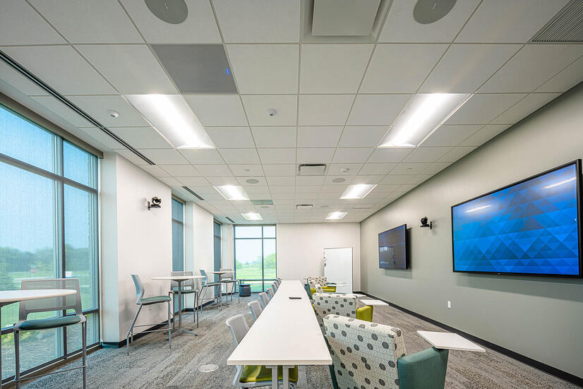 Collaborative space at Nature's Way new corporate office facility constructed by C.D. Smith Construction firm