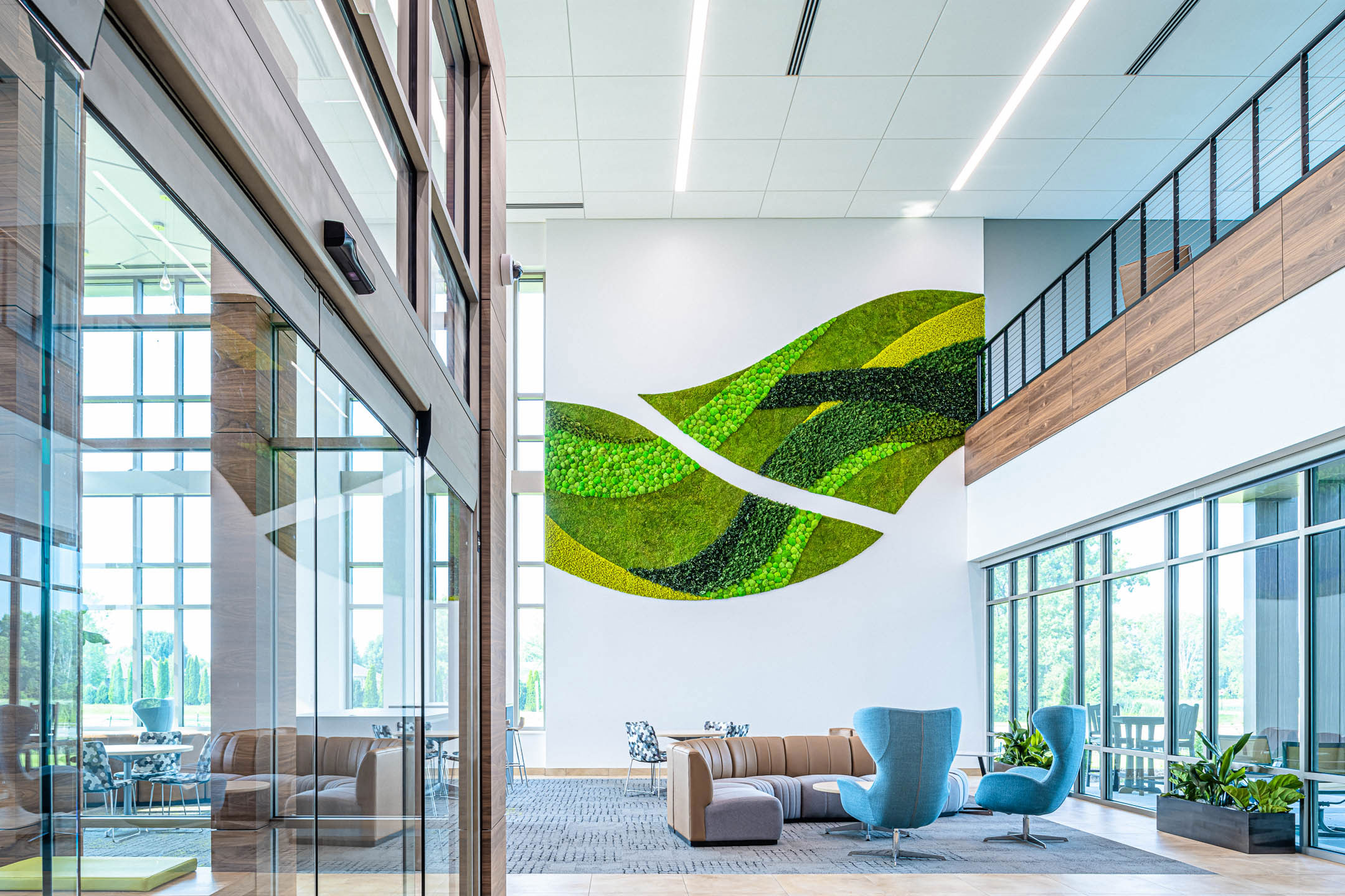 Lobby of Nature's Way new corporate office facility constructed by C.D. Smith Construction firm