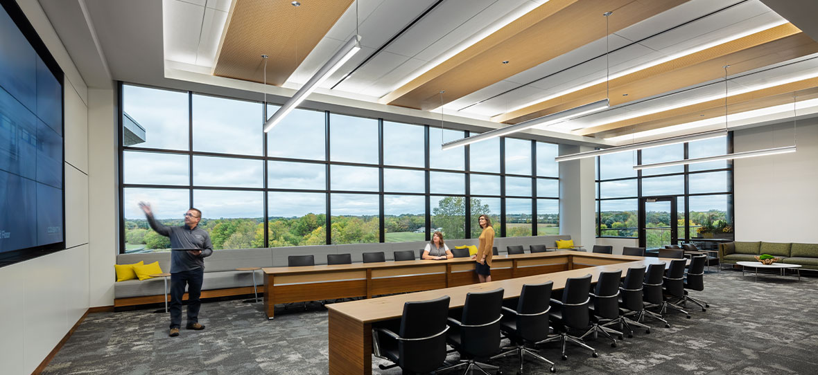 As C.D. Smith was awarded preconstruction and construction management services for Secura Insurance's new Corporate Headquarters in Fox Crossing, Wisconsin, a large focus was put on sustainability and integrating green practices into the building, minimizing environmental impact while creating a workplace employees can be proud of.