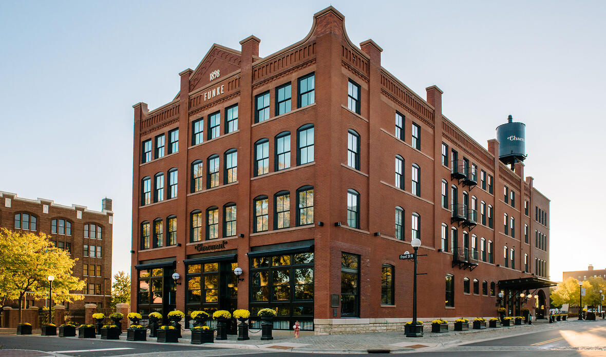 The Charmant Hotel La Crosse WI Boutique Hotel Hospitality Commercial Building Project C.D. Smith Construction Manager