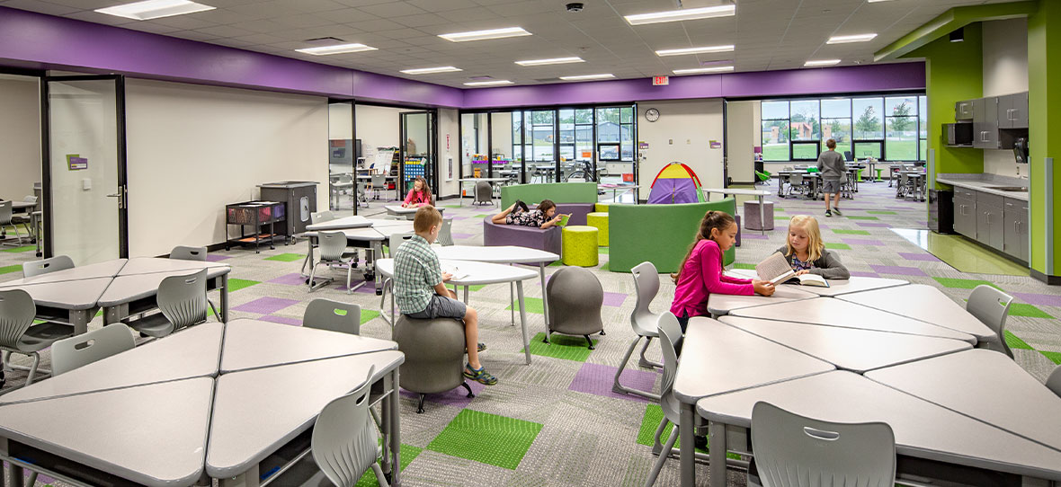 Our work in educational construction includes Group Learning Classrooms