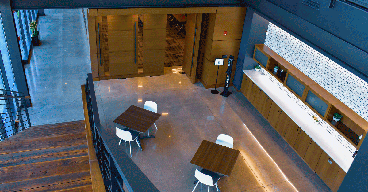 Look at how to maximize spaces while making it easy for the employee to safely social distance.